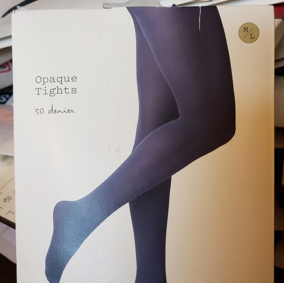 a new day Accessories - NWT Opaque Navy Tights